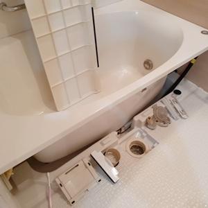 浴槽下の掃除