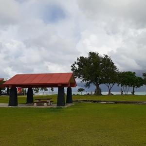 グアムイパオビーチのキャンプ場