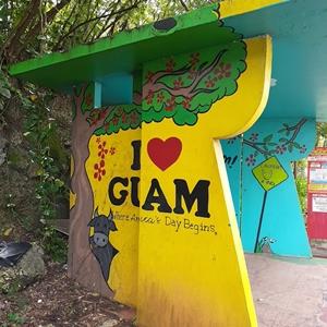グアムの可愛いバス停No16