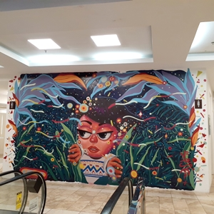 グアムザ・プラザの壁アート