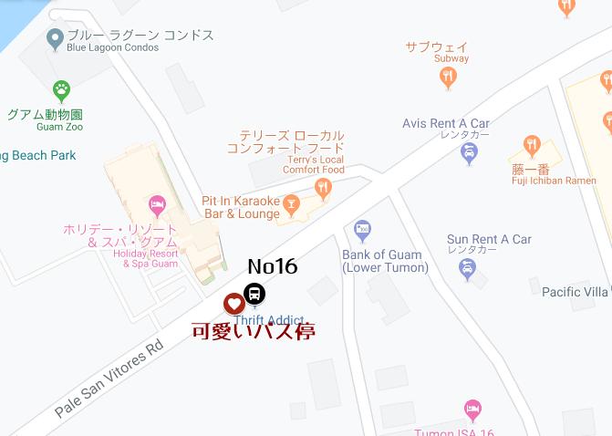 グアムのマップ