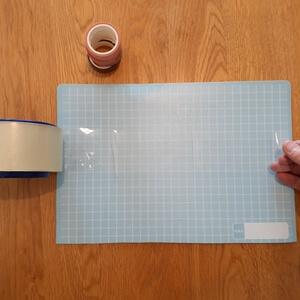 土台の透明テープ