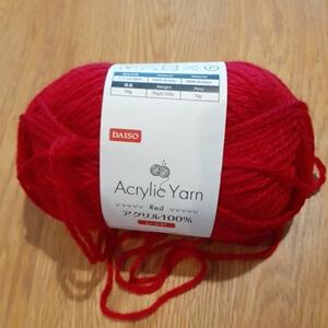 100円ショップの毛糸
