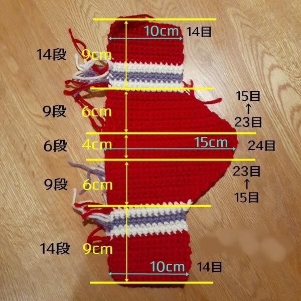 パターカバーの編み図