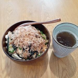 オクラ豆腐ご飯
